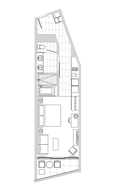 2111号室の図面