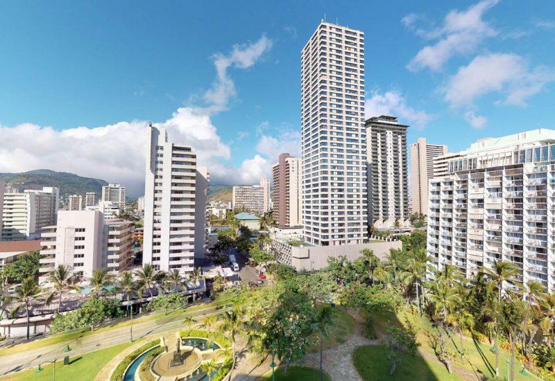 Luana Waikiki 816からの眺望