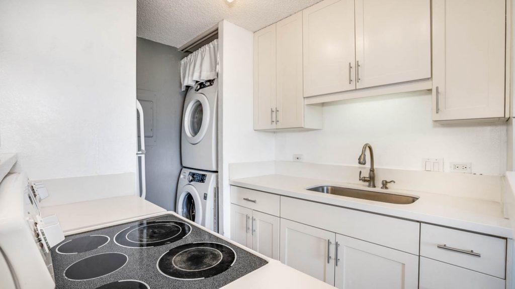 モンタビスタ1105号室には洗濯機・乾燥機も完備
