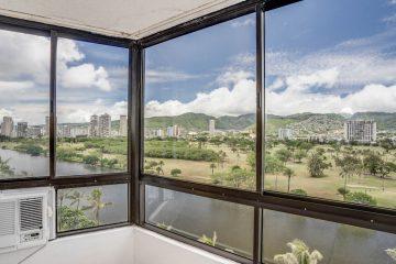 モンテビスタ1105号室の解放感ある眺望