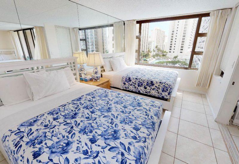 ワイキキ・バニヤン908のベッドルームは綺麗