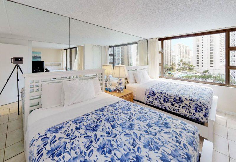 ワイキキ・バニヤン908のベッドルーム