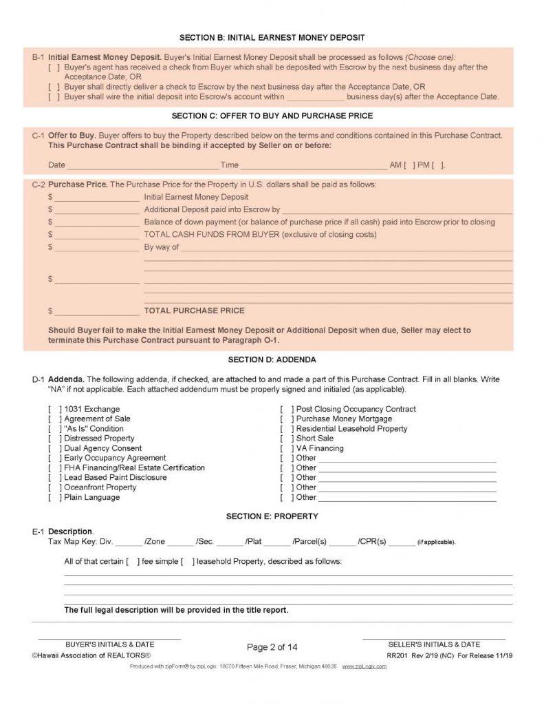 ハワイ不動産の売買契約書2